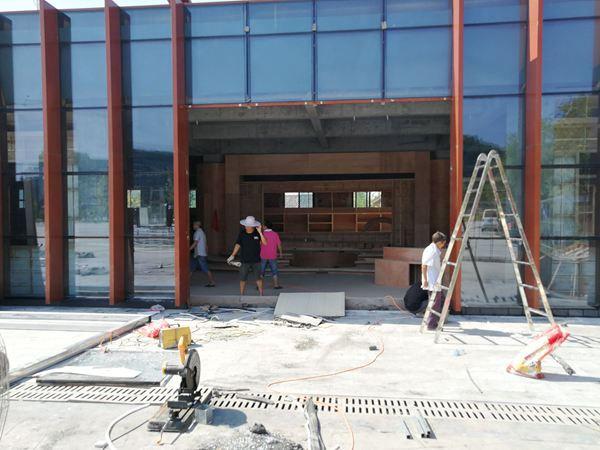 第一届秦巴农洽会暨第二十七届西交会巴中馆开始装修
