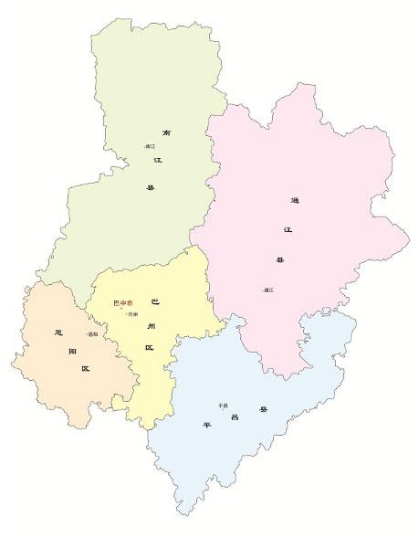 巴中行政地图全图